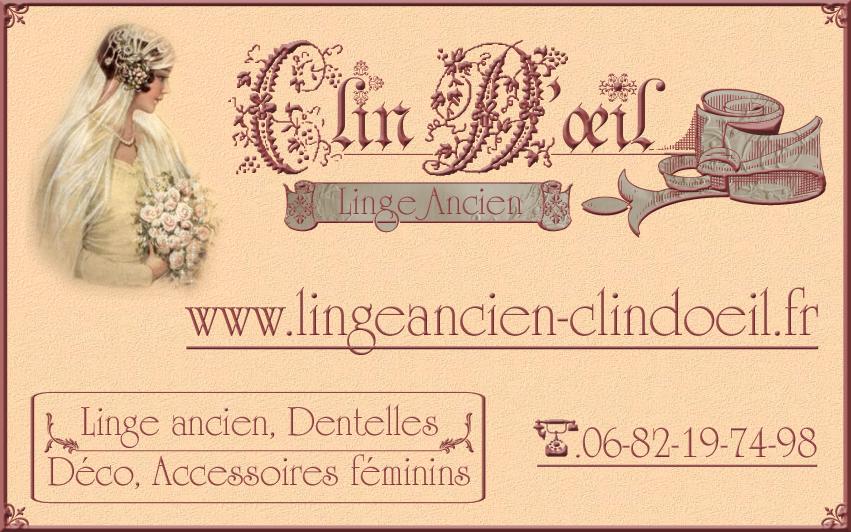 Carte De Visite Realisee Pour Un Antiquaire Specialise Dans Le Linge Ancien Decoration Dentelles Articles Mercerie Et Accessoires